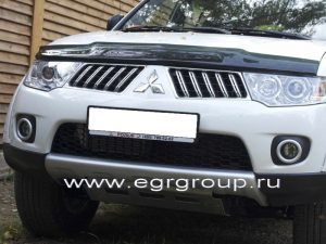 Купить дефлектор капота Mitsubishi Pajero Sport 2008-2016 в Минске
