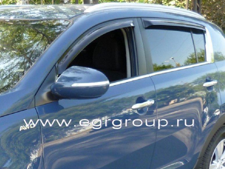 Купить дефлекторы боковых окон Kia Sportage 2010-2015 в Минске
