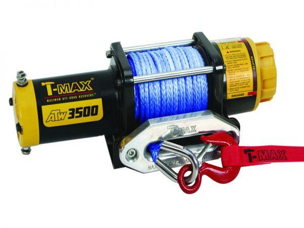 Купить лебедку T-max ATW 3500 с синтетическим тросом для ATV