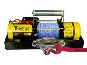 Лебедка переносная для квадроцилка, снегохода T-max ATW-Pro-2500