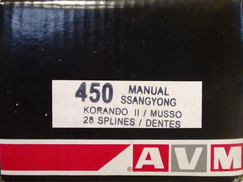 Комплект подключения переднего моста AVM450 SsangYoung
