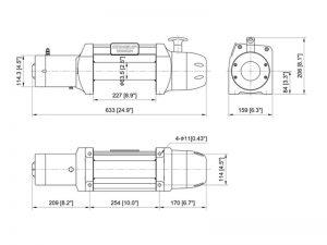Лебедка COMEUP Seal MadX 8.0s 12V