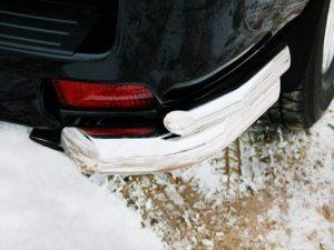Защита углов заднего бампера для Toyota Land Cruiser 150 Prado