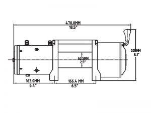 Лебедка T-max EW-6500 OFF-ROAD с пультом управления