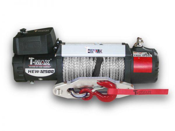 Лебедка T-max HEW-12500 X Power с синтетическим тросом