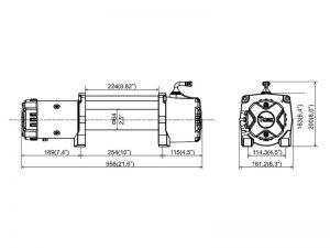 Лебедка электрическая T-max HEW-9500 X Power размеры