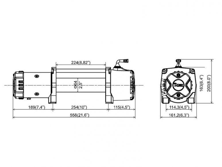 Лебедка T-max HEW-12500 X Power