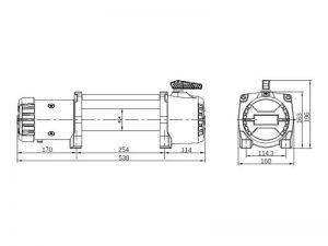 Лебедка T-max Musclelift EW-12500 размеры