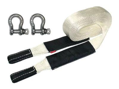 Стропа динамическая рывковая 7т/9м Tplus Туризм с шаклами 2.0т с сумкой