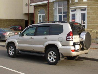 Дефлекторы EGR и релинги для Toyota Land Cruiser 120 Prado