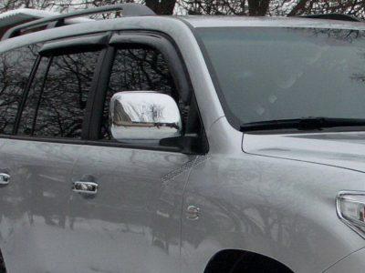 Накладки хромированные ручки дверей и на зеркала для Toyota Land Cruiser 200