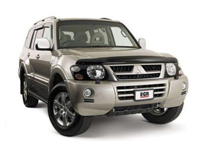 Дефлекторы боковых окон и капота для Mitsubishi Pajero / Montero 3 2000-2006