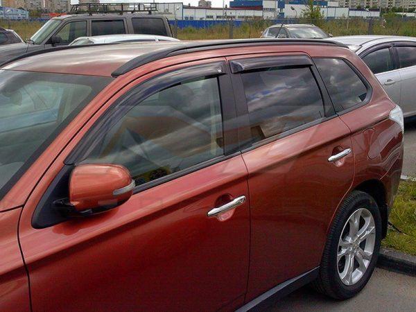 Купить дефлекторы боковых окон Mitsubishi Outlander в Минске
